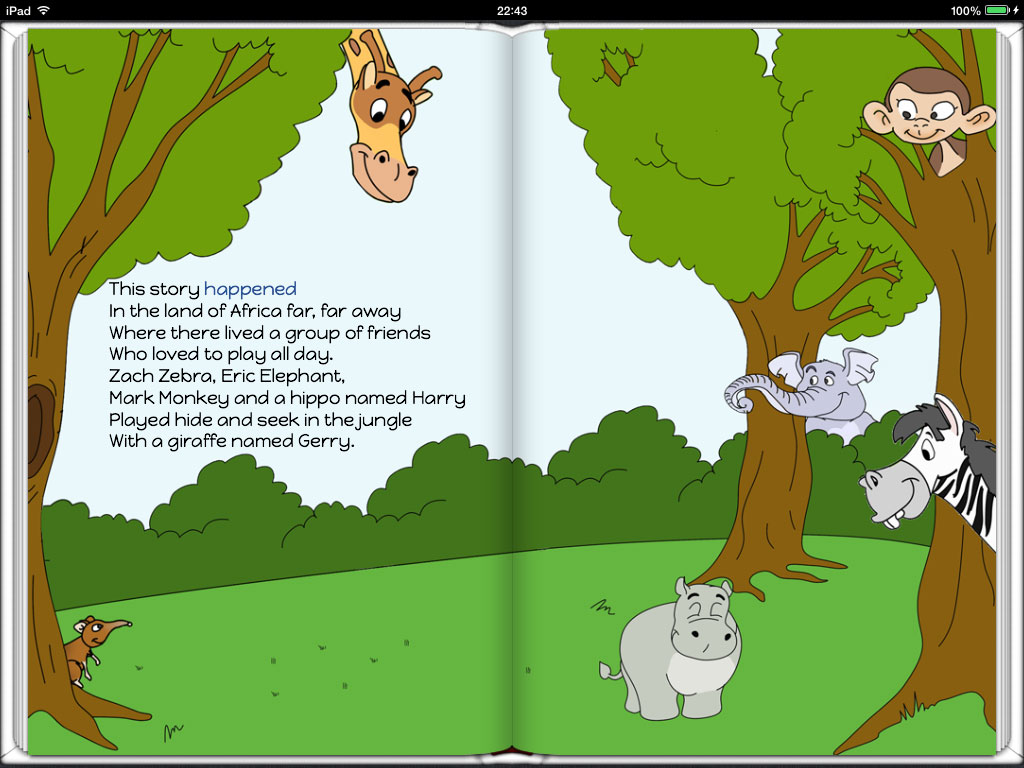 A screenshot of our electronic book A Big Surprise of Little Shrew